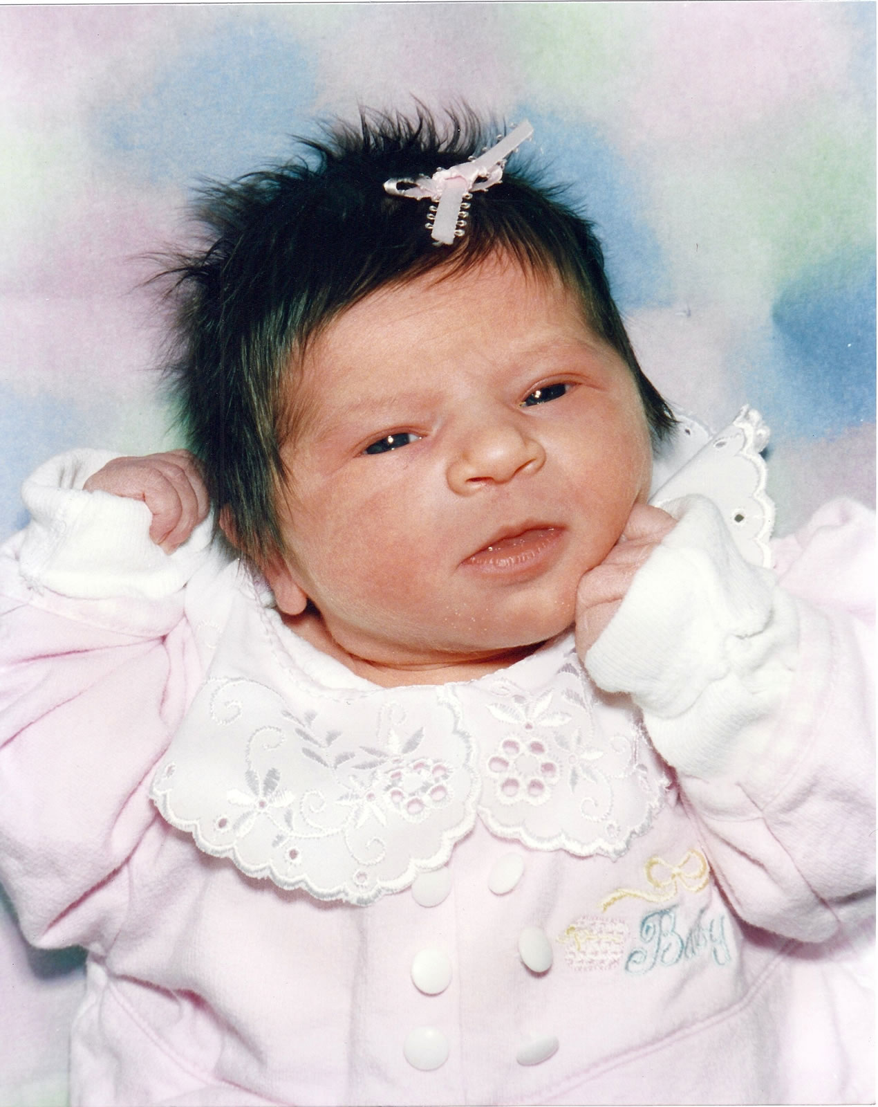 My little angel. March 25, 1996.