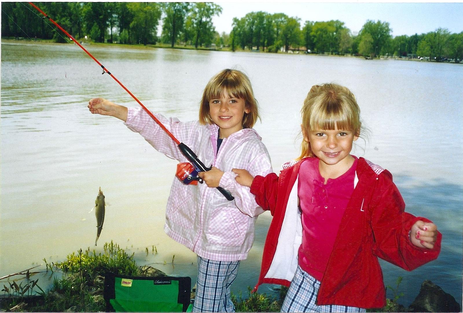 Skylar & Lexy fishing and loving it!