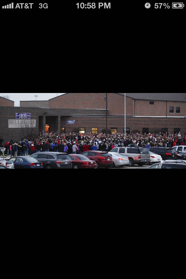 Vigil at BHS the night of the accident. Nov 4, 2012